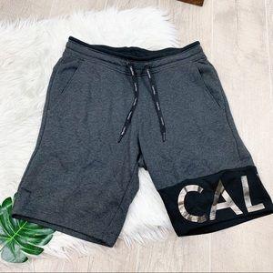 Calvin Klein Gray Elastic Waist Track Shorts D1311